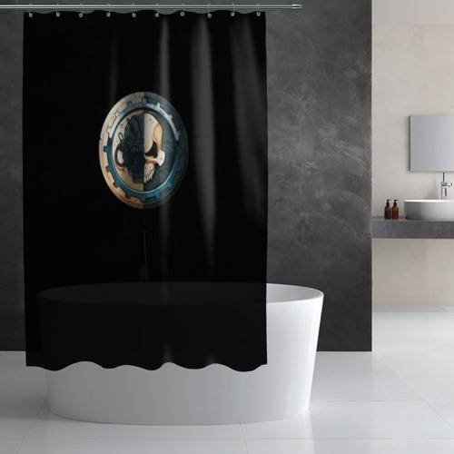 Штора 3D для ванной Adeptus Mechanicus Фото 01