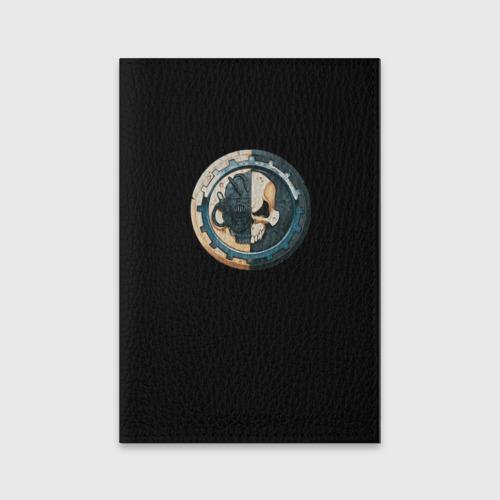 Обложка для паспорта матовая кожа  Фото 01, Adeptus Mechanicus