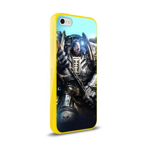 Чехол для Apple iPhone 5/5S силиконовый глянцевый  Фото 02, Серый рыцарь