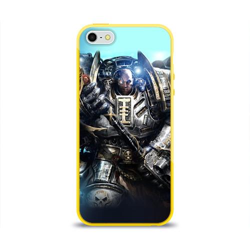 Чехол для Apple iPhone 5/5S силиконовый глянцевый  Фото 01, Серый рыцарь