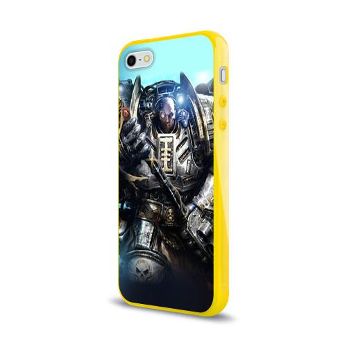 Чехол для Apple iPhone 5/5S силиконовый глянцевый  Фото 03, Серый рыцарь