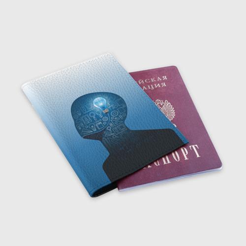 Обложка для паспорта матовая кожа  Фото 03, Умный студент