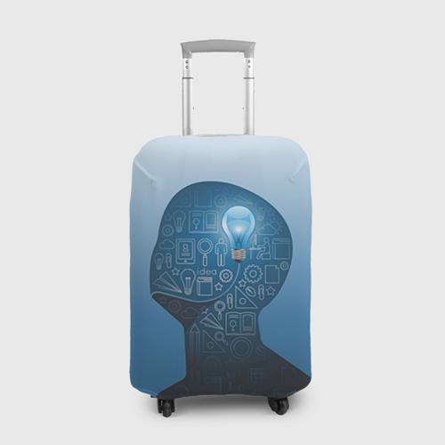 Чехол для чемодана 3D Умный студент Фото 01