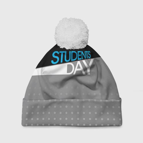 Шапка 3D c помпоном День студента