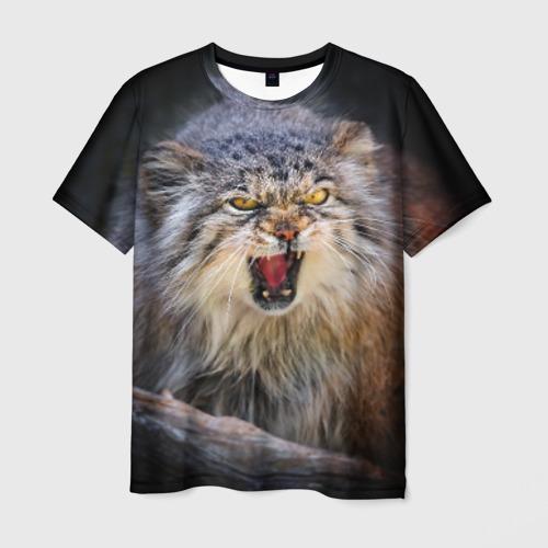 Мужская футболка 3D  Фото 03, Дикий кот
