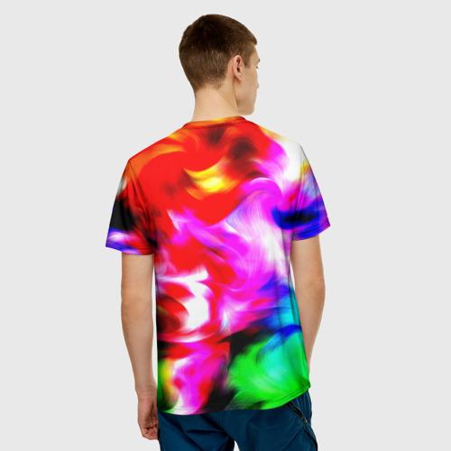 Мужская футболка 3D  Фото 02, Штрихи