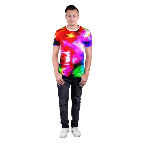 Мужская футболка 3D спортивная  Фото 04, Штрихи
