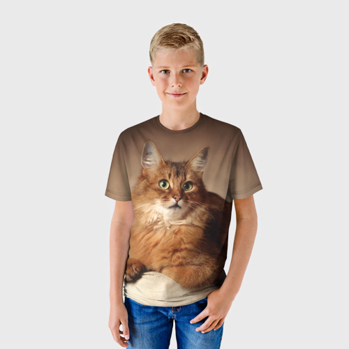 Детская футболка 3D Кот