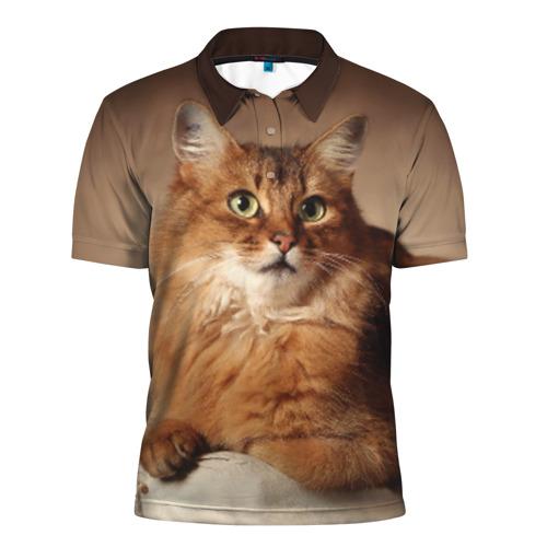 Мужская рубашка поло 3D Кот