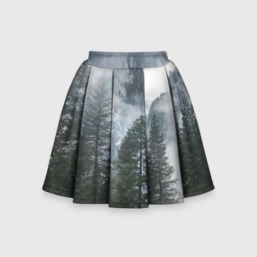 Детская юбка-солнце 3D лес