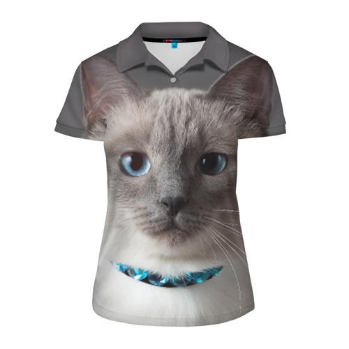 Женская рубашка поло 3D Кот