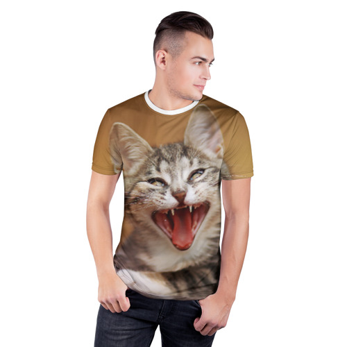 Мужская футболка 3D спортивная  Фото 03, Кот