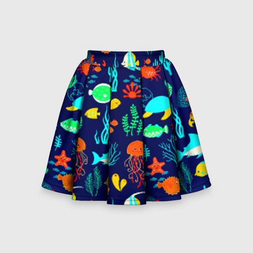 Детская юбка-солнце 3D Аква мир