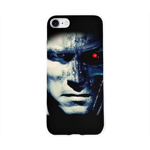 Чехол для Apple iPhone 8 силиконовый глянцевый  Фото 01, Терминатор 2