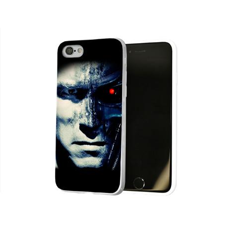 Чехол для Apple iPhone 8 силиконовый глянцевый  Фото 02, Терминатор 2