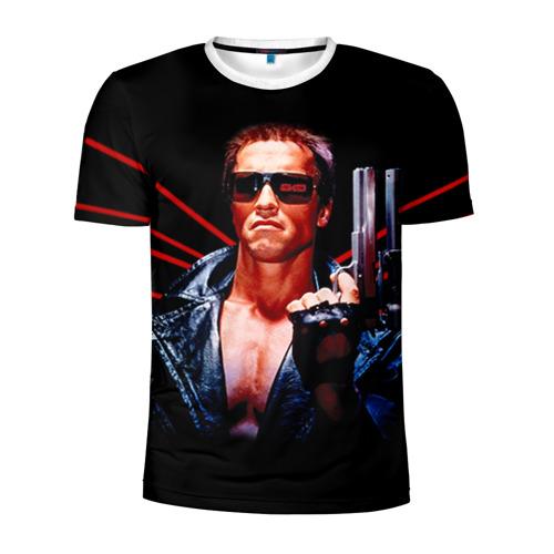 Мужская футболка 3D спортивная  Фото 01, Терминатор 1