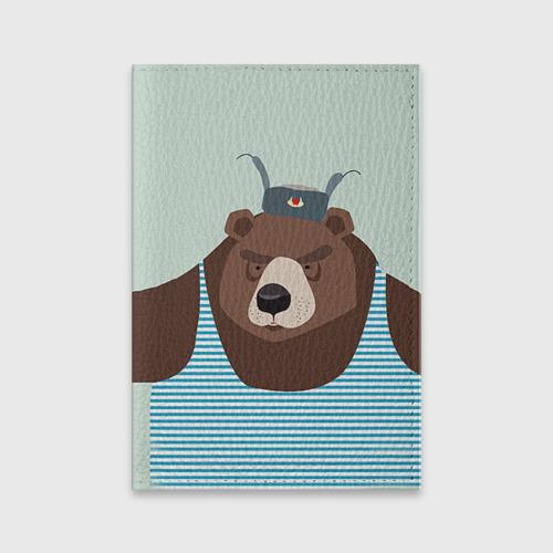 Обложка для паспорта матовая кожа  Фото 01, Русский медведь