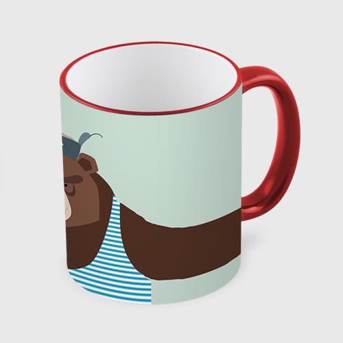 Кружка с полной запечаткой Русский медведь One фото