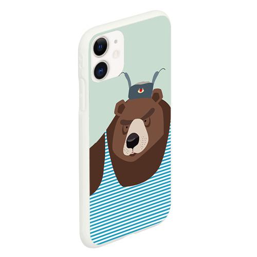Чехол для iPhone 11 матовый Русский медведь Фото 01