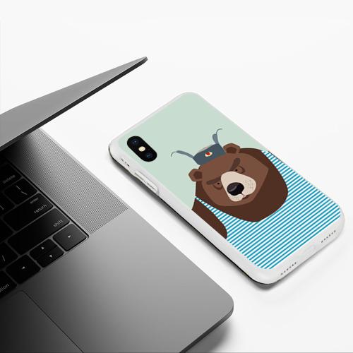Чехол для iPhone XS Max матовый Русский медведь Фото 01