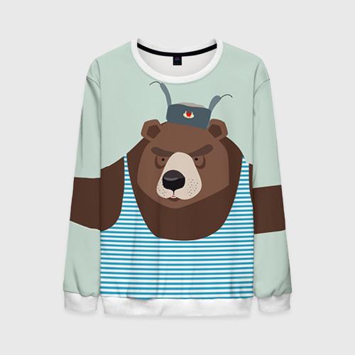 Мужской свитшот 3D Русский медведь Фото 01