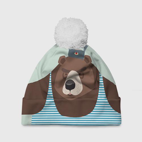 Шапка 3D c помпоном  Фото 01, Русский медведь