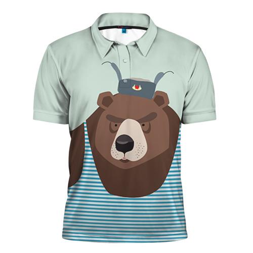 Мужская рубашка поло 3D Русский медведь