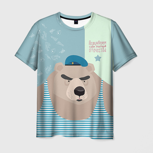 Мужская футболка 3D Вдвшник