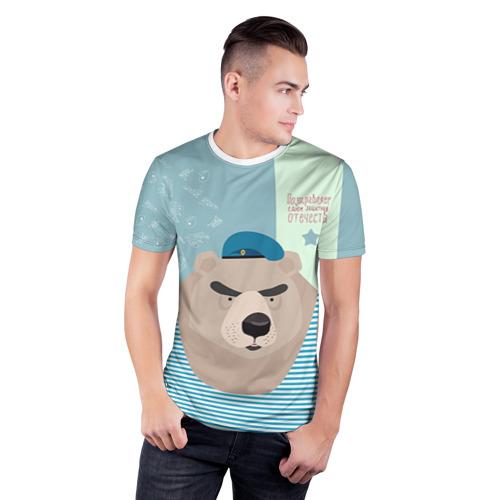 Мужская футболка 3D спортивная  Фото 03, Вдвшник