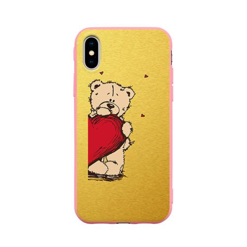 Чехол для iPhone X матовый Медведи а Фото 01