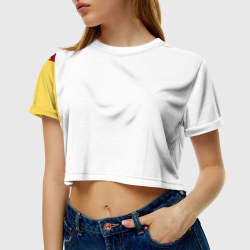 Женская футболка 3D укороченная  Фото 01, Медведи а