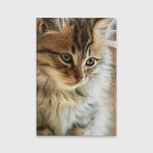 Обложка для паспорта матовая кожа  Фото 01, Кот