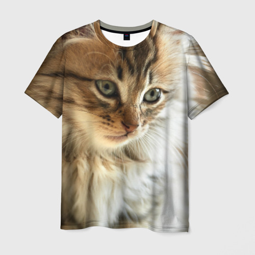 Мужская футболка 3D  Фото 03, Кот