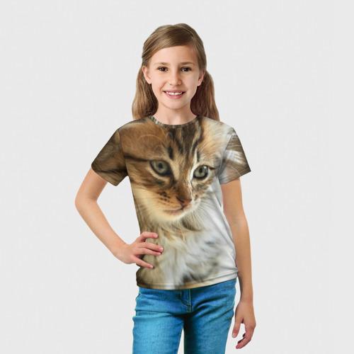 Детская футболка 3D Кот Фото 01