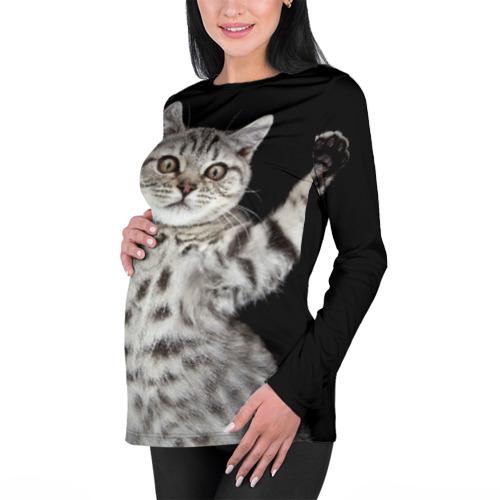 Женский лонгслив 3D для беременных  Фото 01, Кот