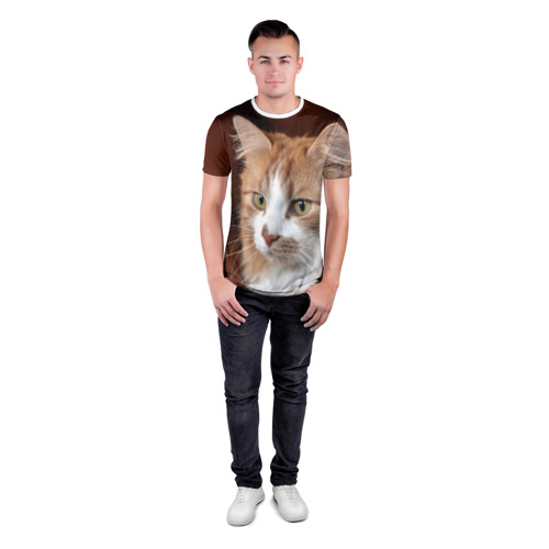 Мужская футболка 3D спортивная  Фото 04, Кот
