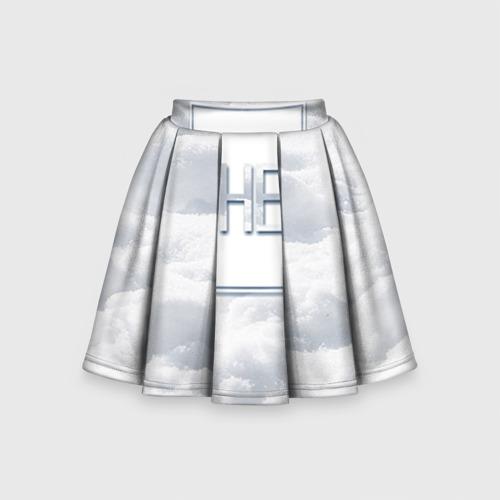 Детская юбка-солнце 3D Снег