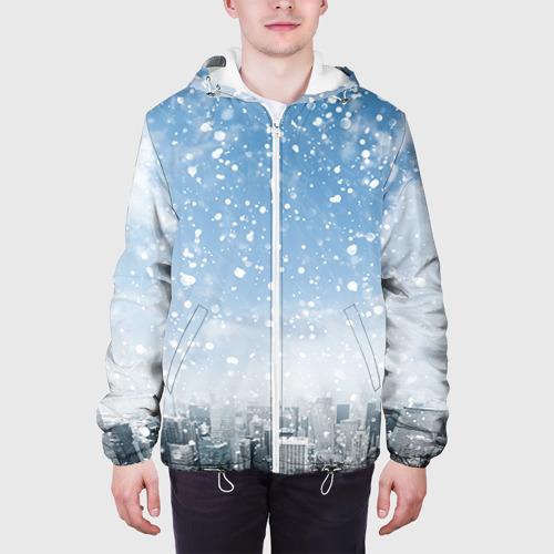 Мужская куртка 3D  Фото 04, Снежный город