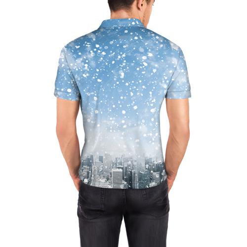 Мужская рубашка поло 3D  Фото 04, Снежный город
