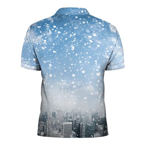 Мужская рубашка поло 3D  Фото 02, Снежный город