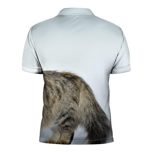 Мужская рубашка поло 3D  Фото 02, Кот