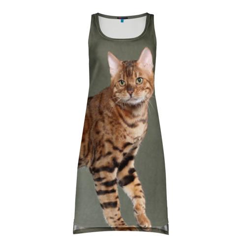 Платье-майка 3D Бенгальский кот