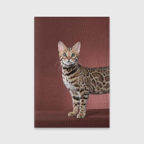 Обложка для паспорта матовая кожа Кот от Всемайки