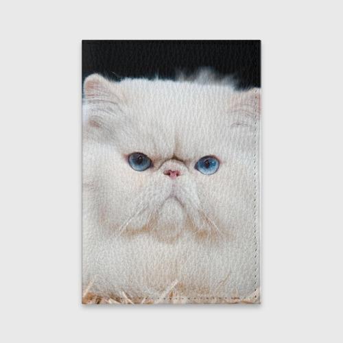 Обложка для паспорта матовая кожа  Фото 01, Персидский кот