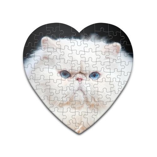 Пазл сердце 75 элементов Персидский кот от Всемайки