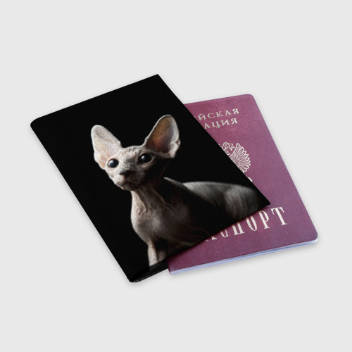Обложка для паспорта матовая кожа  Фото 03, Сфинкс