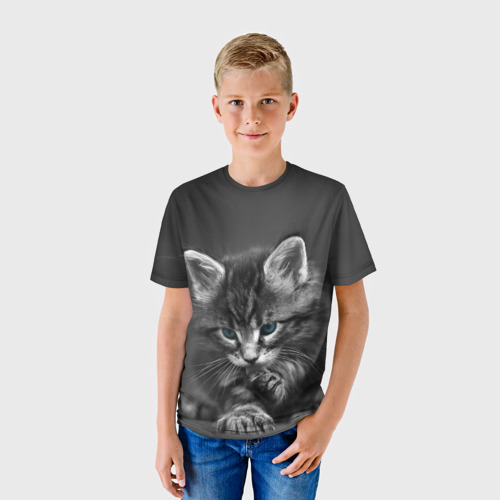 Детская футболка 3D Котенок