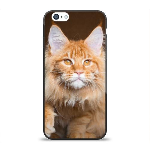 Чехол для Apple iPhone 6 силиконовый глянцевый Кот от Всемайки