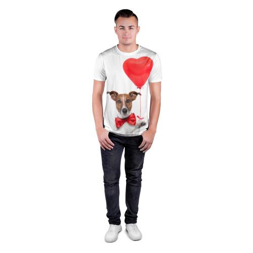 Мужская футболка 3D спортивная  Фото 04, Собака с шариком