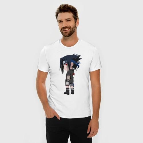Мужская футболка премиум  Фото 03, Саске Учиха Chibi Young